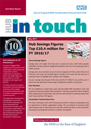Hub Newsletter Cover May 2017