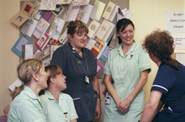 Nurses chatting